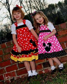 Minnie Mouse Applique Ruffle Dress