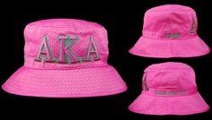 Alpha Kappa Alpha Bucket Hat (Hot Pink)
