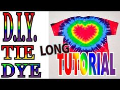 How to Tie Dye a Heart design [Full Tutorial] #2 - YouTube