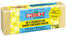 4 ounces (about 1 cup) shredded 50% cheddar cheese, such as Cabot
