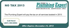 #NO #TAX #2013! This is one of the many #coupons available from the Plumbing Expert!
