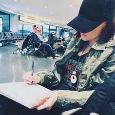 Sitting in the airport in Newark working on my goals and planning out my week as CEO wifey CEO momma CEO chauffeur and CEO meal planner/chef.  . . If I don't put my plan into action tho my dreams and goals don't happen. So I must write down a crystal clear picture as to how I want my life to look -- in all aspects -- personal and business. . . 5 years ago I would've laughed at the thought of this -- today I wonder how I ever managed before. Because of these little habit changes I completely…