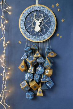 The dream catcher comes in every possible way! Make it yourself … – Welcome to Ramadan 2019 Advent Calenders, Diy Advent Calendar, Christmas Calendar, Diy Calendario, Christmas Inspiration, Holiday Crafts, Dream Catcher, Christmas Decorations, Bohemian Christmas