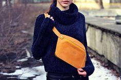 Handmade belt bag belt bag fanny pack genuine by MenEvolution
