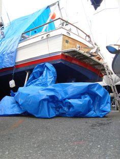 Båtlivets vinterglede: storm og presenninger...