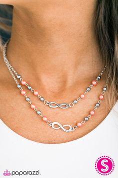 Chance of a Lifetime Orange Necklace