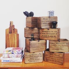 Zanders and Sons — Vintage wooden crates