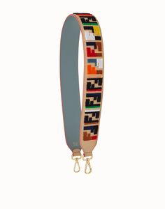 04bafedf8711 FENDI STRAP YOU - Textured-effect leather shoulder strap - view 1 detail
