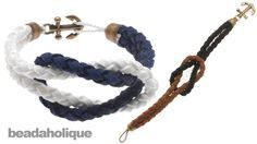 DIY Tutorial: Bracelets / How to Make a Knotted Round Braid Anchor Bracelet - Bead&Cord