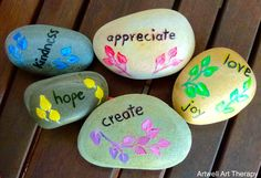 Painted rocks are therapeutic to create, gaze upon, give and receive