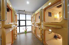 A capsule hostel in Xi'an