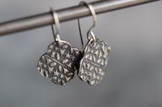 Sterling Silver Moroccan Earrings Embossed by MossyCreekStudio