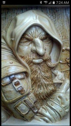 Woodcarving Dwarf Rogue by Madcarver