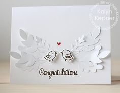 Card by Kalyn Kepner using Paper Smooches Natural Beauties stamps/dies, Salutations