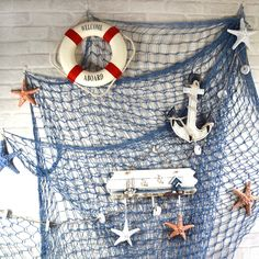 Nautical net decor                                                                                                                                                                                 More