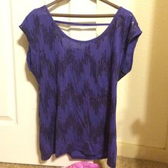 Navy blue sequined shirt Size small. Navy. Never worn. Victoria's Secret Tops Tees - Short Sleeve