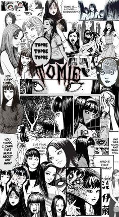Junji Ito, Collage Template, Ios Icon, Headers, Iphone Wallpaper, Random Stuff, Backpacks, Cartoon, Manga