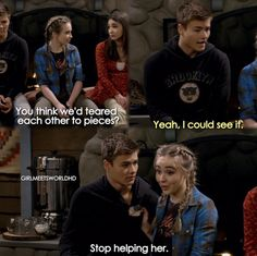 Girl Meets World Boy Meets Girl, Girl Meets World, Riley And Lucas, Cory And Shawn, Childhood Tv Shows, World Tv, World Quotes, Life Guide, World Pictures