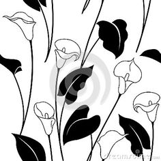 Free clip art black and white flowers flower flourishes clipart black and white calla lily pattern mightylinksfo