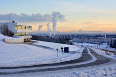 25 oldest cities in the U.S. - University of Alaska Fairbanks, in winter at sunset