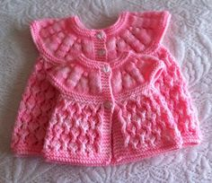 Additions to my All in one top down collection Baby Knitting Patterns Free Newborn, Baby Cardigan Knitting Pattern, Hand Knitting, Knit Baby Sweaters, Knitted Baby, Knit Crochet, Baby Girl Born, New Baby Girls, Baby Shawl