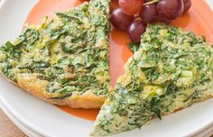 French Spinach Frittata #veggies #protein #dairy #MyPlate #WhatsCooking
