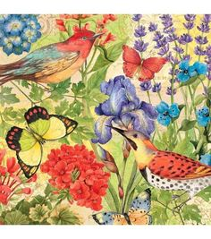Susan Winget Prelude to Eden Bird Floral Cotton Fabric by Yard | eBay