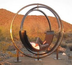 Chair designed by a student; now installed at Talisen West (Frank Lloyd Wright School of Architecture)