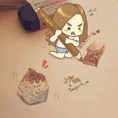 Taeng cookies fanart by Jujiir & RPG #Taeyeon #instaegram #fanart