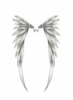 Angel Wing Tattoo Design by childofthenocht