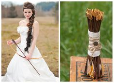 Hunger Games Wedding!!!! Not over the top, but enough to make it fun and super cool!