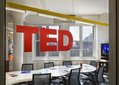 TED Conferences office by Tina Manis Associates Newy York City 03 TED Conferences office by Tina Manis Associates, Newy York City Small Space Office, Open Office, Office Spaces, Visual Merchandising, Conference Logo, Editing Suite, Wood Logo, Sliding Wall, Good Environment