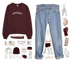 """""""☾WHEN i WAS SiX YEARS OLD"""" by siamesecat-1 ❤ liked on Polyvore featuring RMK, Billabong, Mark & Graham, Dr. Martens, Brioni, Aveda, Levi's, Oribe, Davines and Mason Pearson"""