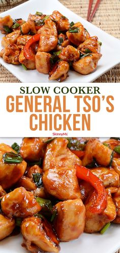 Put down the takeout menu, because it's actually very easy to make this chicken dish at home, and without the frying and the processed ingredients that make the restaurant version so unhealthy! Crockpot Dishes, Healthy Crockpot Recipes, Slow Cooker Recipes, Healthy Dinner Recipes, Cooking Recipes, Crockpot Meals, Healthy Food, Healthy Dinners, Healthy Tips
