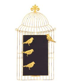 Loving this Birdcage Chalkboard & Bird Magnet Set on #zulily! #zulilyfinds