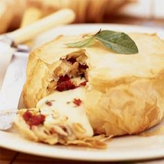 baked brie with phyllo dough