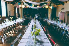 Eclectic Colourful Quirky Village Hall Wedding http://missgen.com/
