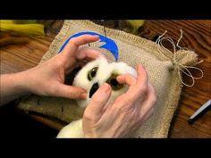 How to Needle Felt an Eye: Sarafina Fiber Art Techniques - YouTube