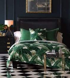 Discover more ways to relax with luxury bedding sets and bedding collections, offering the ultimate in designer style and comfort for your master bedroom or guestroom. Trendy Bedroom, Modern Bedroom, Master Bedroom, Bedroom Bed, Bedroom 2017, Bedroom Romantic, Bed Sets, Bedroom Green, Bedroom Decor