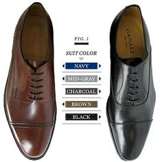 a guide to what shoe color you should wear