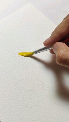 Art Painting Gallery, Diy Painting, Acrylic Painting Flowers, Art Drawings Beautiful, Art Drawings Sketches Simple, Watercolor Art Lessons, Mini Canvas Art, Guache, Wow Art