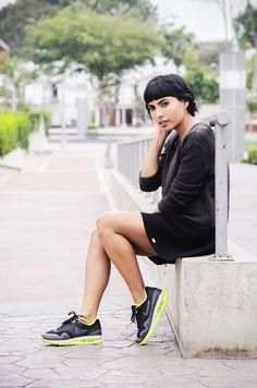 Thea Kills Nike Air Force 1 Mid, H&M Grey Training Pants