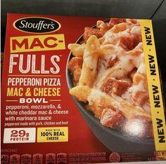 Cheddar Mac And Cheese, White Cheddar, Frozen Meals, Marinara Sauce, Pepperoni, Mozzarella, Protein, Pork, Pizza