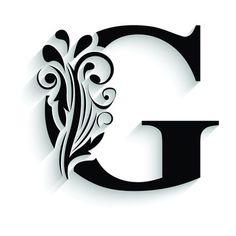 Letter G Tattoo, G Logo Design, Flower Alphabet, Arts And Crafts, Paper Crafts, Black And White Wallpaper, Alphabet Design, Wood Carving Art, Tattoo Fonts