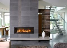 WS54  Wide Screen with Black Metropolitan Stone set and Black Porcelain Panels. Image by  www.rodesign.ca