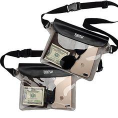 3ab7165e7d0 EOTW Bolsa Funda Impermeable 2 Pack Bolsa Estanca Con Correa de cintura Para  Movil Teléfonos Llaves