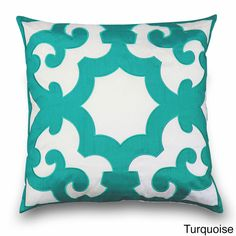 'Bukura' Two-tone Embroidered Throw Pillow | Overstock.com Shopping - The Best Deals on Throw Pillows