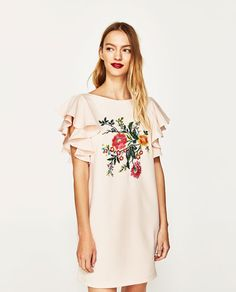 Image 2 of FLORAL EMBROIDERED DRESS from Zara