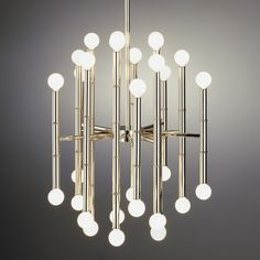"Modern Lighting | Meurice Chandelier Ceiling Lamp | Jonathan Adler 19.25"" wide x 22"" high $895 750 watts"