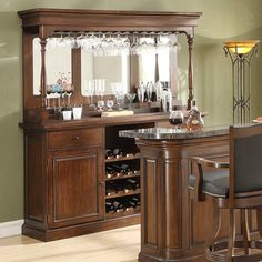 Find This Pin And More On Dining Room Preston Home Bar With Optional Hutch